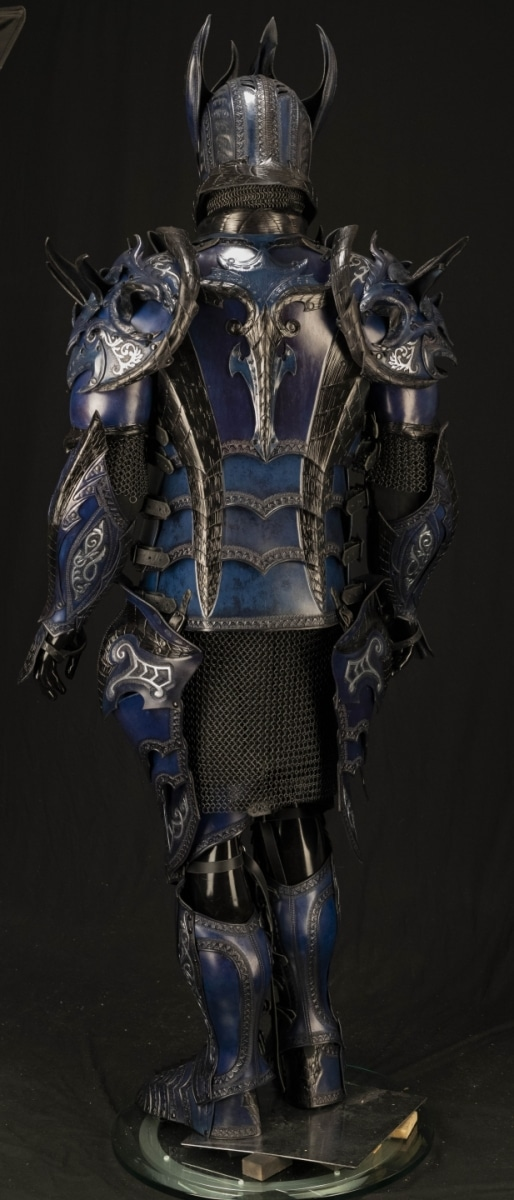Orc full leather armor, black - CelticWebMerchant.com